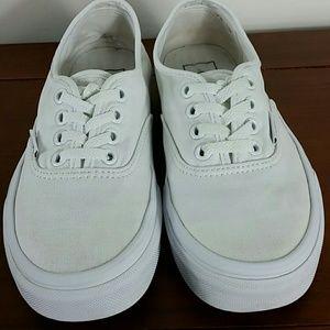 Vans white canvas